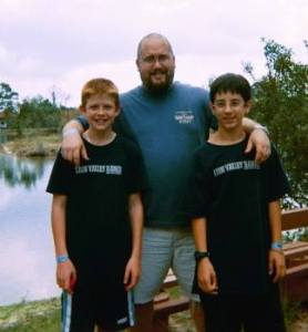 We remember Mauro like this! (With our son Andrew and Matt Hedinger)